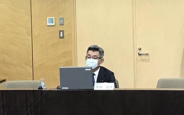 武田総務相は「チェック機能が働かない制度となっている」と危機感をにじませた(14日)