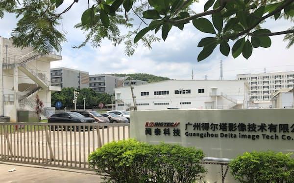 オーフィルムが運営していた工場の看板は差し替わり、ひっそりとしていた(5月中旬、広東省広州市)