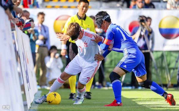 日本はパラ4連覇のブラジルなどと同組になった(2019年のブラインドサッカー国際大会、鰐部春雄氏撮影・日本ブラインドサッカー協会提供)=共同