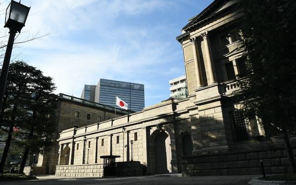 今週の金融政策決定会合では企業の資金繰り支援策の扱いが焦点に(日銀本店)