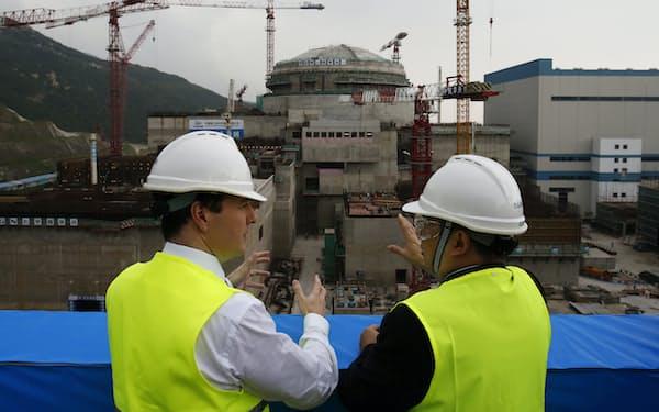 台山原発は中国とフランスの合弁企業が建設した(写真は2013年の建設現場)=AP