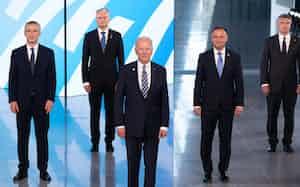 バイデン米大統領は北大西洋条約機構(NATO)首脳会議に初参加した=AP
