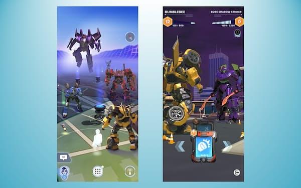米ナイアンティックが年内に配信を始める「トランスフォーマー」を題材にしたゲームの画面