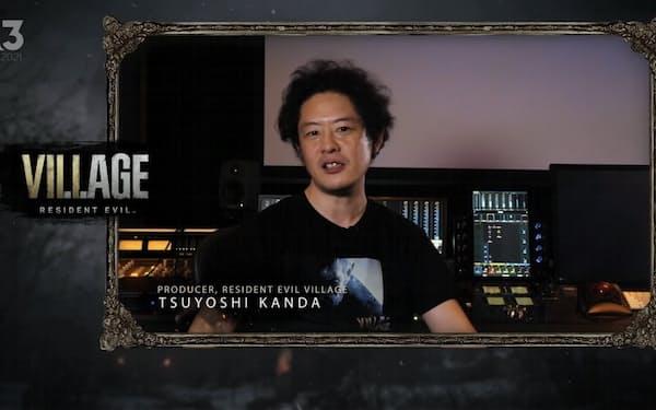 イベントに登壇したプロデューサーの神田剛氏(カプコンの配信動画より)