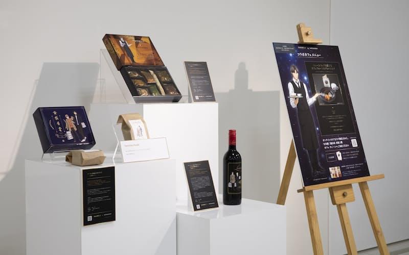昨年の企画では食品やアクセサリーなどのコラボ商品が好評だった©田中芳樹/松竹・Production I.G