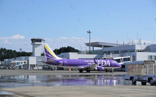 静岡空港の搭乗者数は新型コロナの感染拡大の影響がなお続く