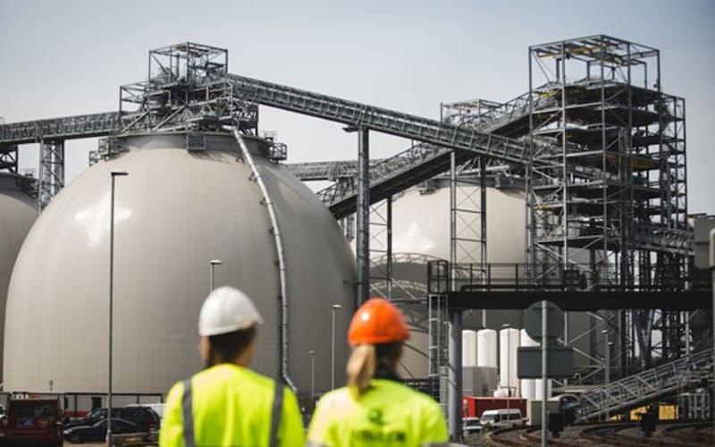 英電力大手ドラックスが石炭火力から転換したバイオマス発電所(英ノース・ヨークシャー州)