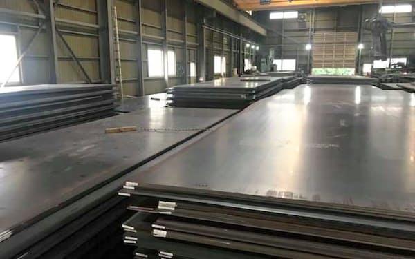 流通市場で厚板の需給が引き締まっている