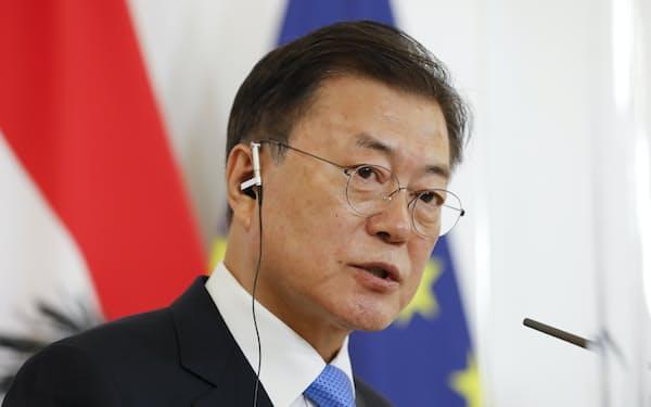 元徴用工判決が割れる韓国で文在寅大統領の対応が焦点になる=AP
