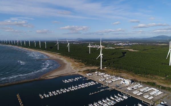 三菱商事が国内で手掛ける陸上風力(秋田県)