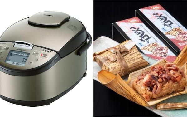 家電製品と特産の食品をセットが人気を集めている