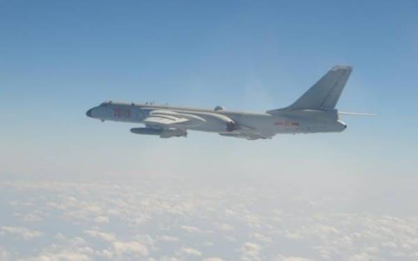 中国軍機が15日、台湾の防空識別圏に大量侵入した=国防部(国防省)提供