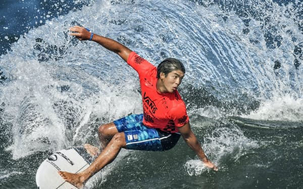 五十嵐は五輪で「環境保護や子どもたちにインスピレーションを与えることも夢」と大志を抱く=共同