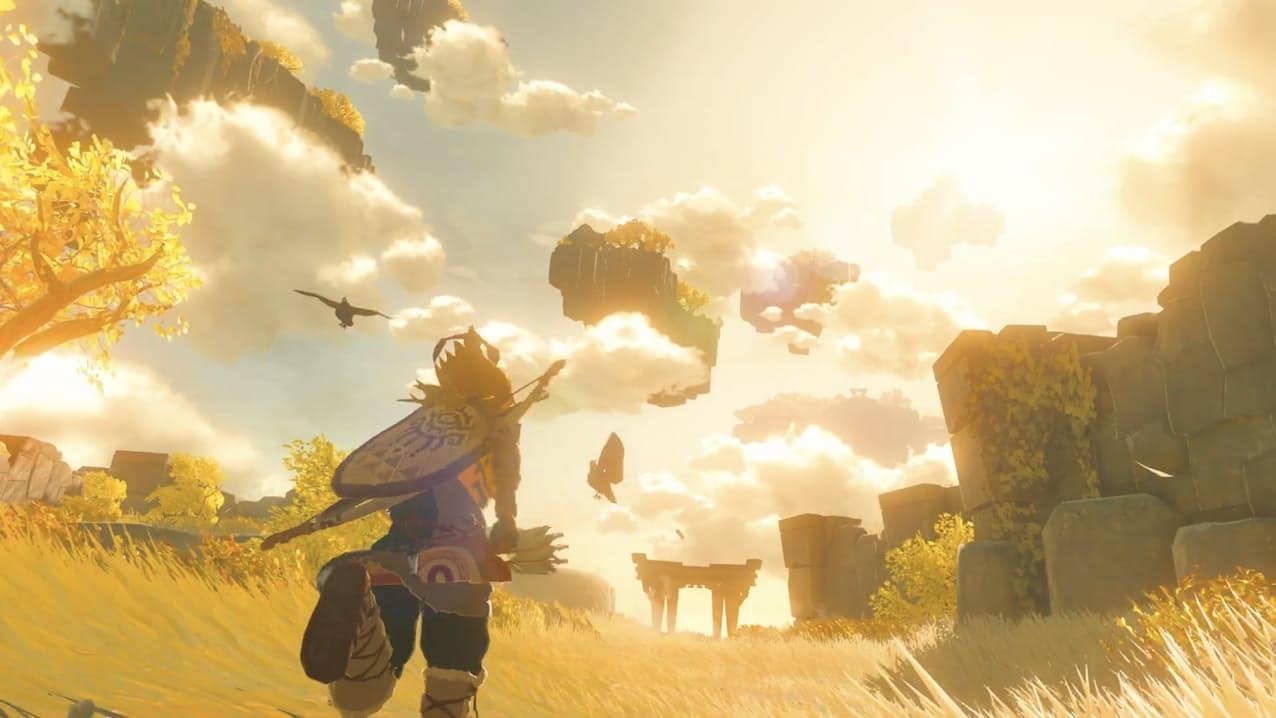 新たに公開した「ゼルダの伝説」新作のイメージ(「Nintendo公式チャンネル」より)