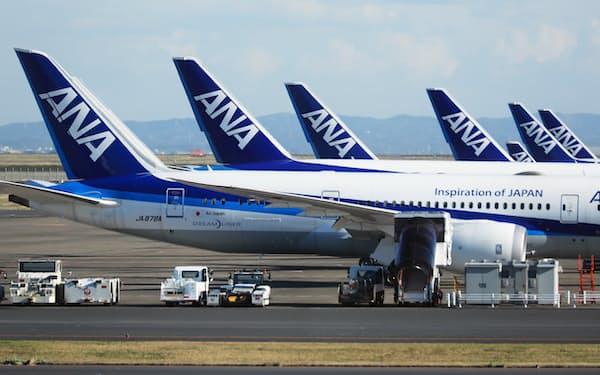50年度に航空機の運航から出るCO2排出量の実質ゼロを目指している
