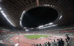 東京五輪陸上テストイベントを実施した国立競技場(5月)