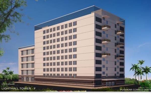 NTTと東京センチュリーがムンバイに建設するデータセンターの完成イメージ
