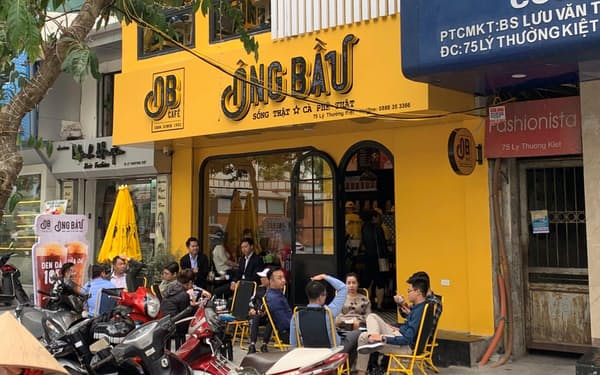 コーヒーチェーン「オンバウ」は20年に初出店し、店舗を急拡大している(ハノイ市)=写真は店舗提供