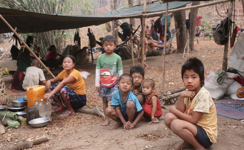 クーデター後、多くの難民が発生した。数万人がジャングルでの避難生活を強いられている。(写真:カレン・ピース・サポート・ネットワーク)