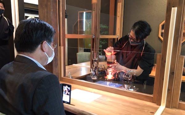サイホンコーヒーが楽しめるカフェの彩本堂はプロジェクト2件目の開業