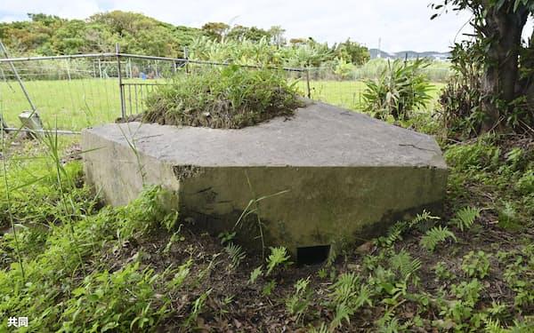 沖縄県中城村に残された日本軍のトーチカ(13日)=共同