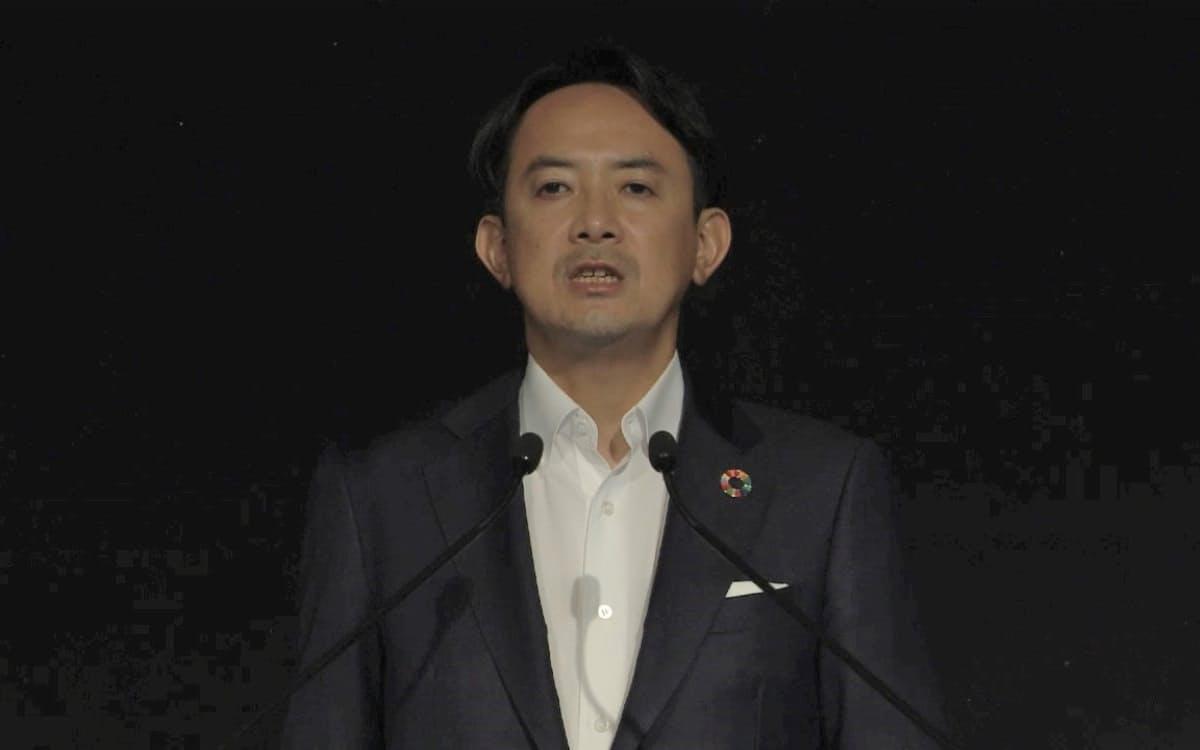 Zホールディングスの川辺健太郎社長(18日、株主総会)