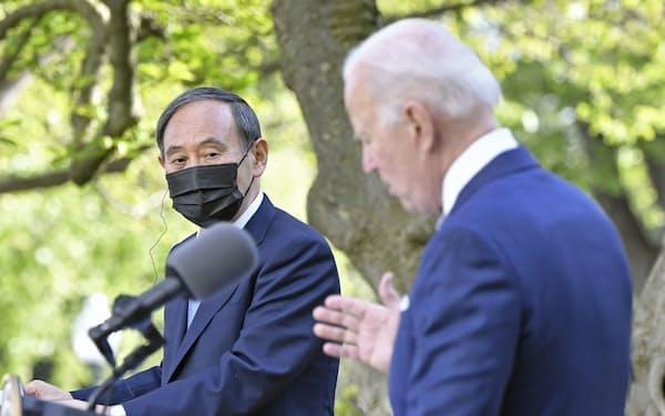 日米共同声明で6G開発に両国で45億ドルを投資することを盛り込んだ(共同)