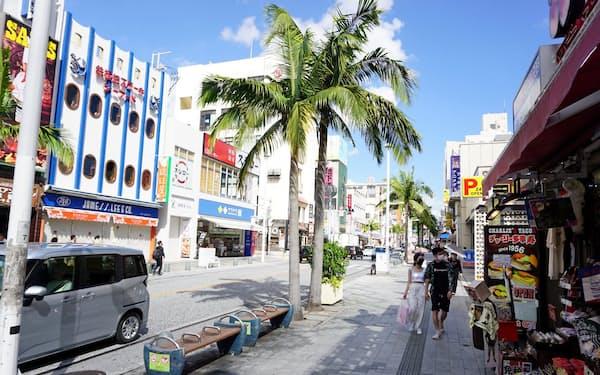 サムネイル用=沖縄の観光2団体が職場接種実施へ(那覇市の国際通り)