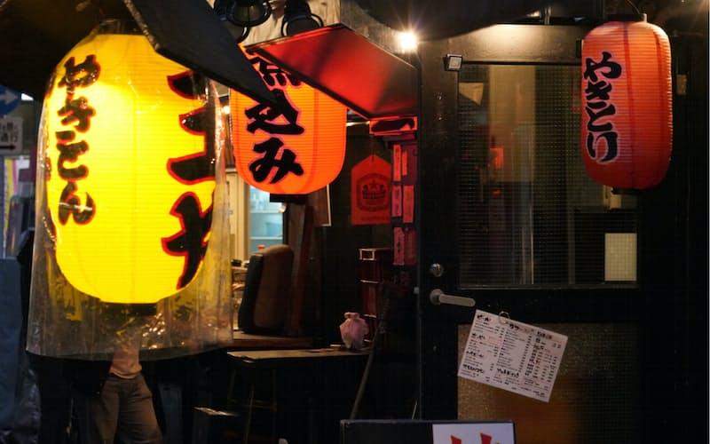 緊急事態宣言下では酒類提供の取りやめを要請していた(東京都港区)