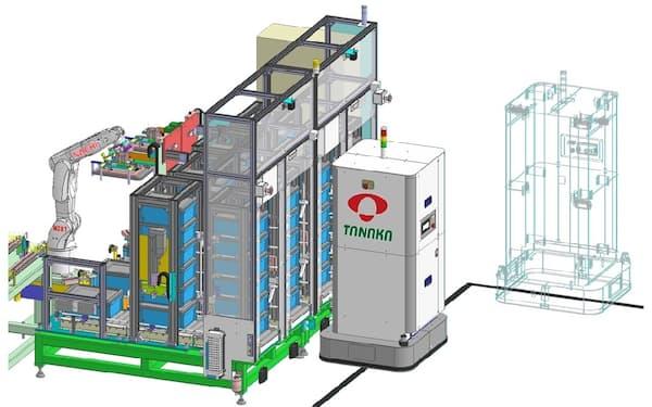 タナカエンジニアリングは、AGVの一貫生産で、顧客のカスタマイズに答える