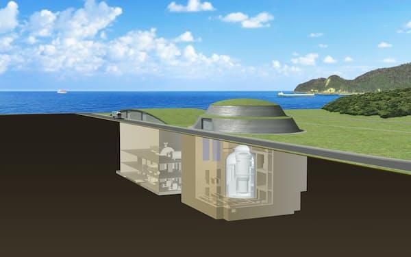 三菱重工業の小型炉のイメージ図