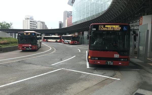 北陸鉄道のバスは金沢駅発着が多い