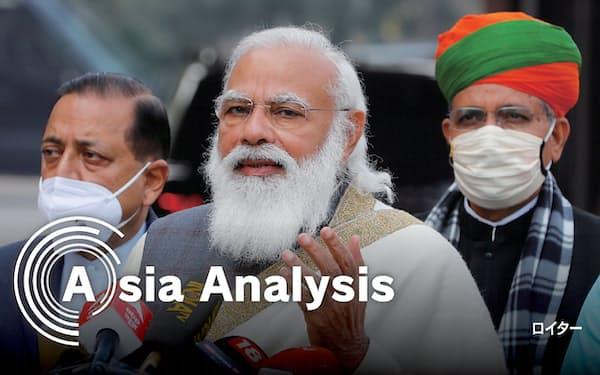 インドはEU、英国とそれぞれFTA交渉入りで合意した(モディ首相)=ロイター
