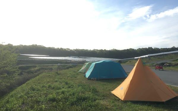 メガスポーツが開く初のキャンプ場
