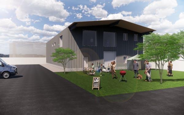 ホリゾンは京都市にスカッシュ競技場を新設する(写真は完成イメージ)