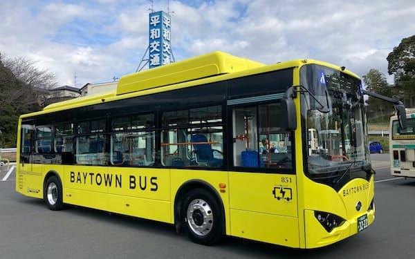 BYDは大型EVバスの「K8」を日本で初めて平和交通(千葉市)に納車した。
