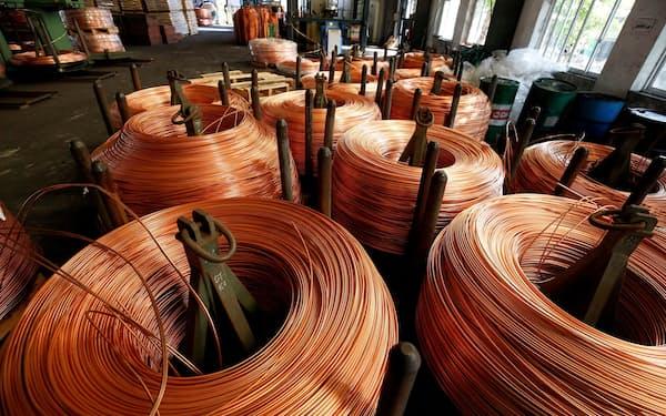 銅など非鉄金属は脱炭素化社会への移行で需要が中長期に伸びる=ロイター