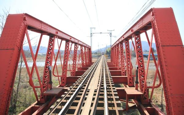 近江鉄道の愛知川橋梁