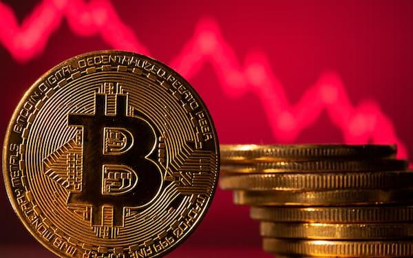 ビットコイン価格の下落が続いている=ロイター