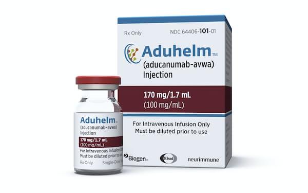エーザイと米バイオジェンが開発したアルツハイマー型認知症治療薬=AP