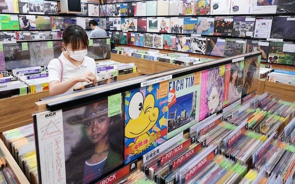 レコード専門店の「ユニオンレコード渋谷」(東京・渋谷)