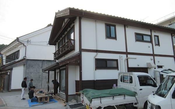 グループ補助金を受けた茶舗から日本料理店に改装が進む店舗(宮城県気仙沼市)
