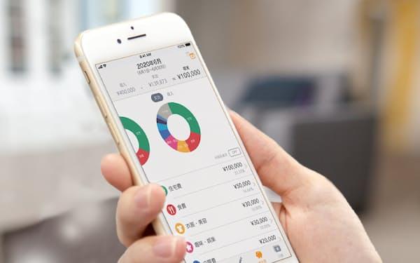 アプリに連携させた家計データを運用商品の提案につなげる