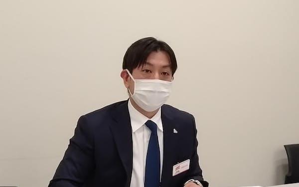 アイドマ・ホールディングスの三浦陽平社長(23日)