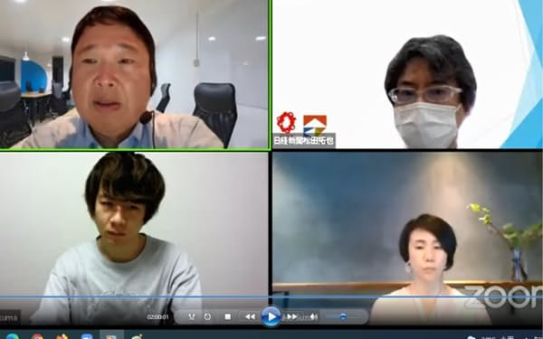 シンポジウムではオンラインで参加者が議論した