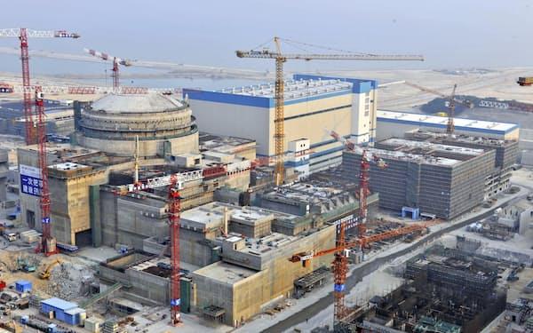 燃料棒破損が確認された中国広東省の台山原発=CNS共同