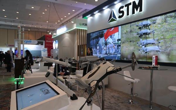 STM社のドローン(2019年、イスタンブール)=アナトリア通信