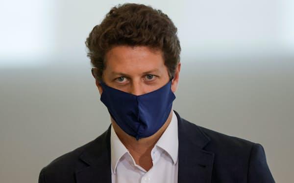 辞任したブラジルのサレス環境相(22日、ブラジリア)=ロイター