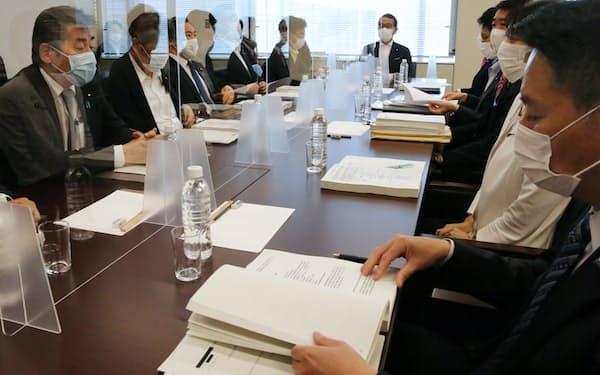 「赤木ファイル」が開示された衆院財務金融委の理事懇談会(24日午前)