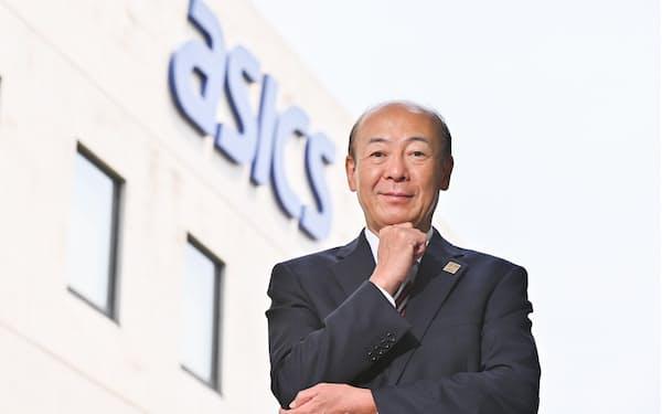 アシックスの広田康人社長。三菱商事から転じて2018年に就任した